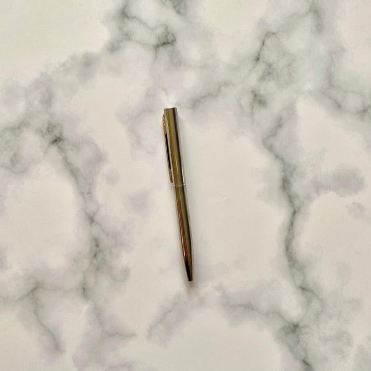 Mini Pocket Silver Rollerball Pen