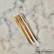 Load image into Gallery viewer, Sleek Stainless Steel Pen (available in Silver, Gold and Rose Gold)
