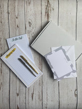 Load image into Gallery viewer, Letterbox Gift - To do list pad, shopping list pad and pen (pen available in Silver, Gold and Rose Gold)