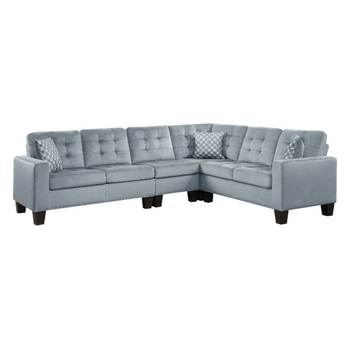 Homelegance Furniture Lantana 2-Piece Reversible Sectional in Gray 9957GY*SC image
