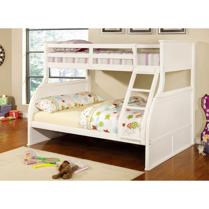CANOVA White Twin/Full Bunk Bed image