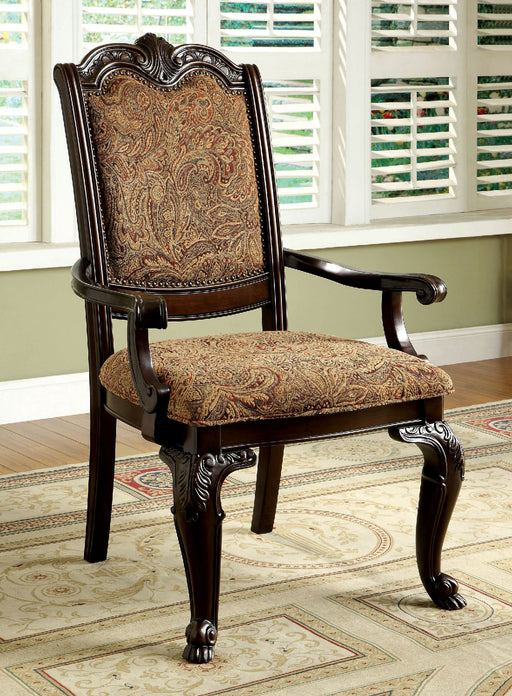 BELLAGIO Brown Cherry/Pattern Fabric Arm Chair (2/CTN) image
