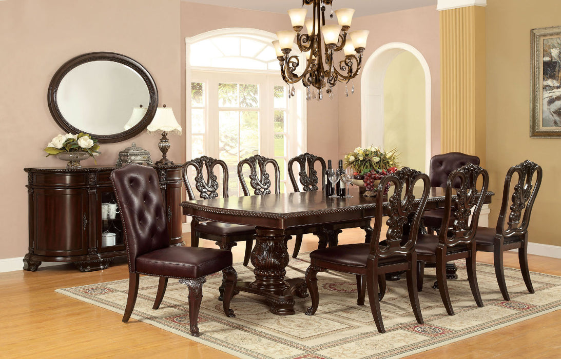 BELLAGIO Brown Cherry 9 Pc. Dining Table Set (2AC+6SC) image