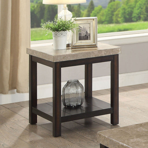 Calgary Dark Walnut/Ivory End Table image