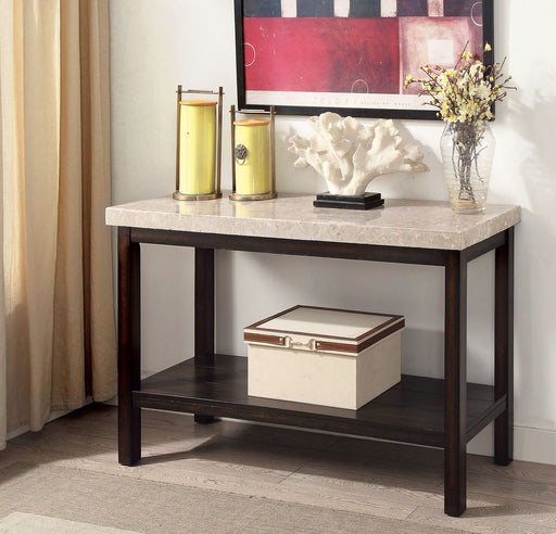 Calgary Dark Walnut/Ivory Sofa Table image