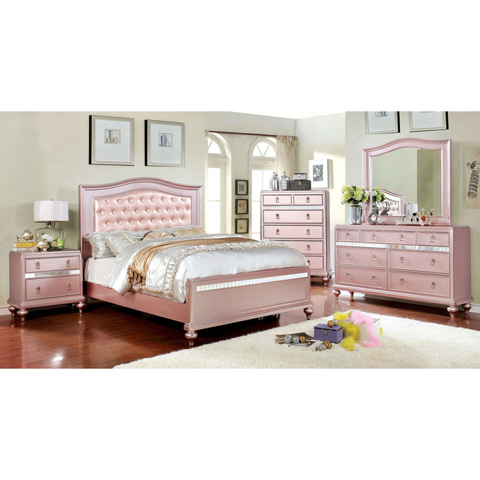 Ariston Rose Gold 4 Pc. Queen Bedroom Set image