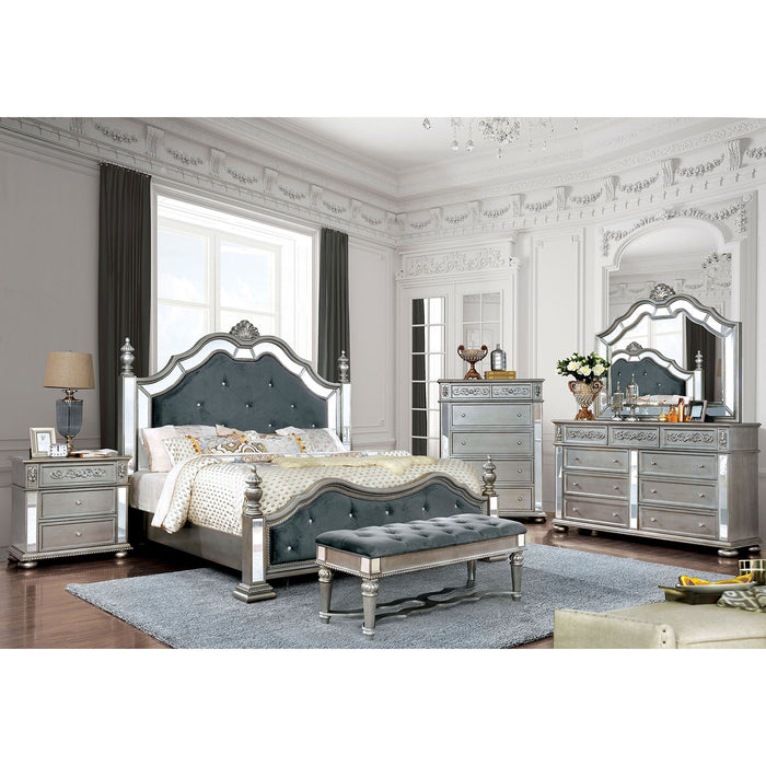Azha Silver/Gray 4 Pc. Queen Bedroom Set image