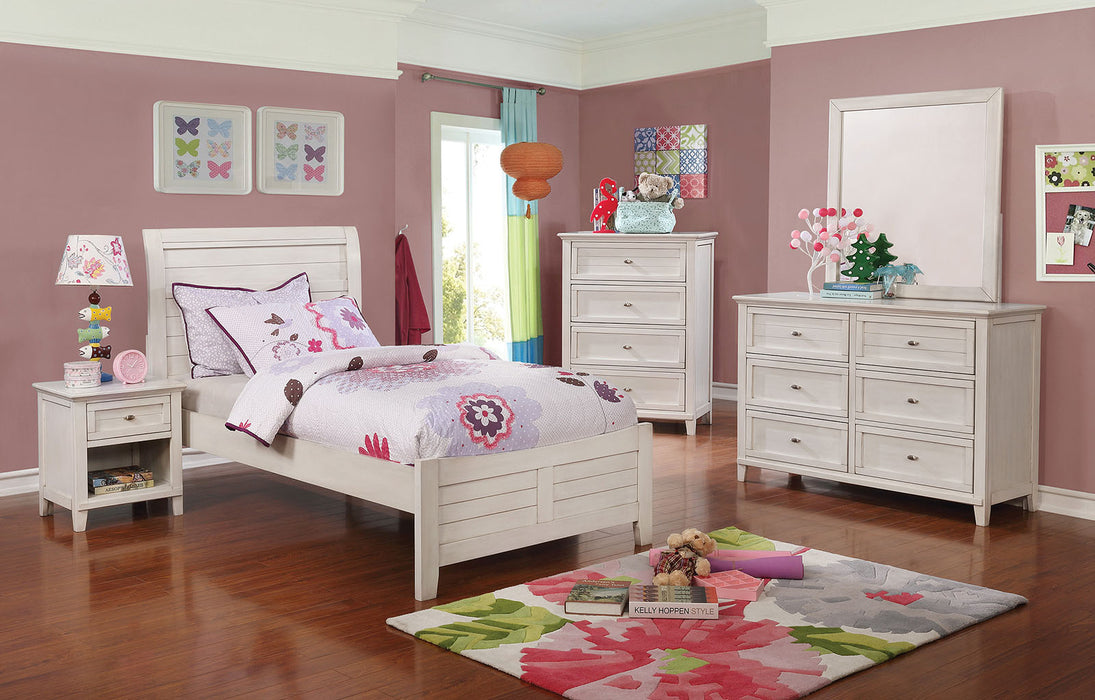 Brogan Antique White 4 Pc. Full Bedroom Set image
