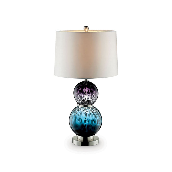 "Camila Purple/Blue 27.5""H Glass Table Lamp image"