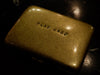 "Brass hand stamped ""WORK HARD/ PLAY HARD"" cigarette case"