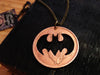 "Handcut coin superhero necklace ""Batman"""