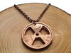 "Handcut coin necklace ""Tri Force"""