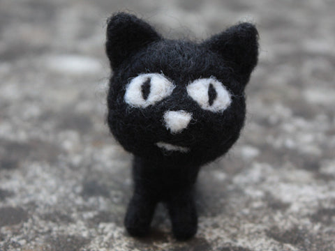 Handmade cute little felted cat