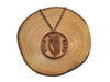 "Handcut coin necklace ""Eire Harp 1968"""