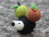 Handmade needle felted lovely Hedgehog with apples
