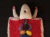 "Needle felted unique art piece - ""Dissected Rat"""