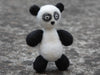 Handmade needle felted crazy panda