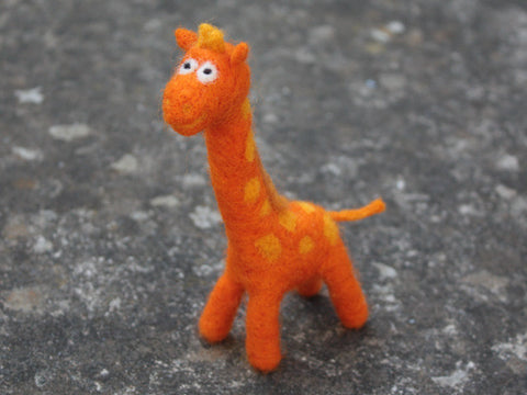 """Giraffe"" needle felted friend"