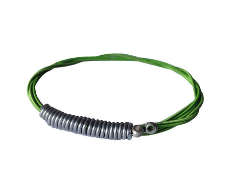 "Recycled guitar string bracelet ""Green"""
