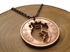 "Handcut coin necklace ""Anatomical heart"""