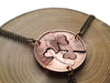 "Handcut Irish penny coin ""Friendship"" necklace"