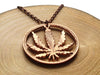 "Handcut coin necklace ""Hemp"""