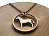 "Handcut Irish coin ""Horse"" necklace (20p)"