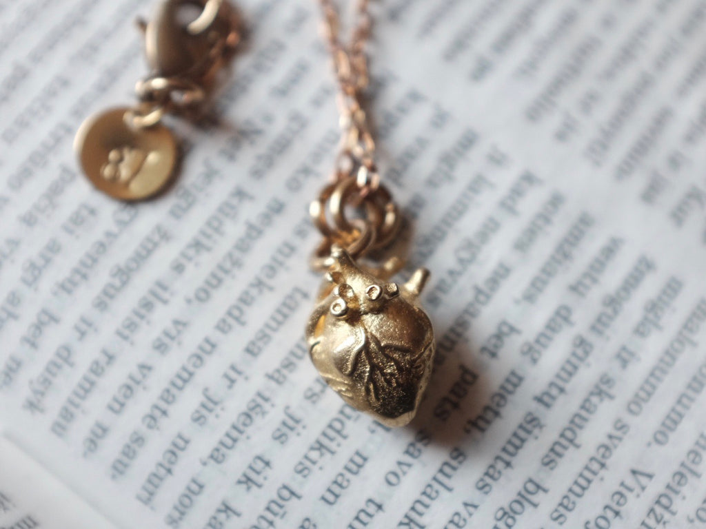 Small Anatomical Heart necklace