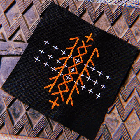 B1 TRIBE hand embroidered patch