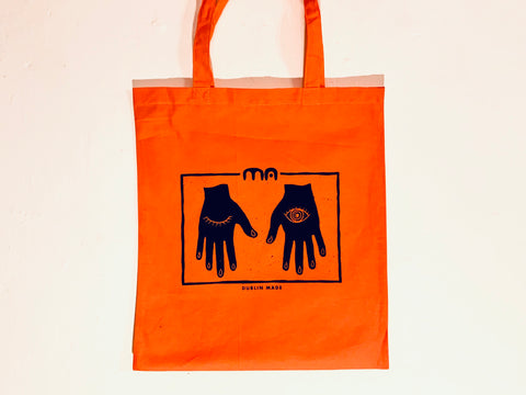 Orange MA tote bag