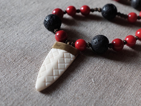 Tribal stone necklace