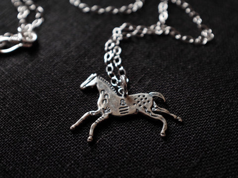 Tribal HORSE necklace 925'silver