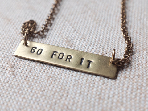 GO FOR IT necklace
