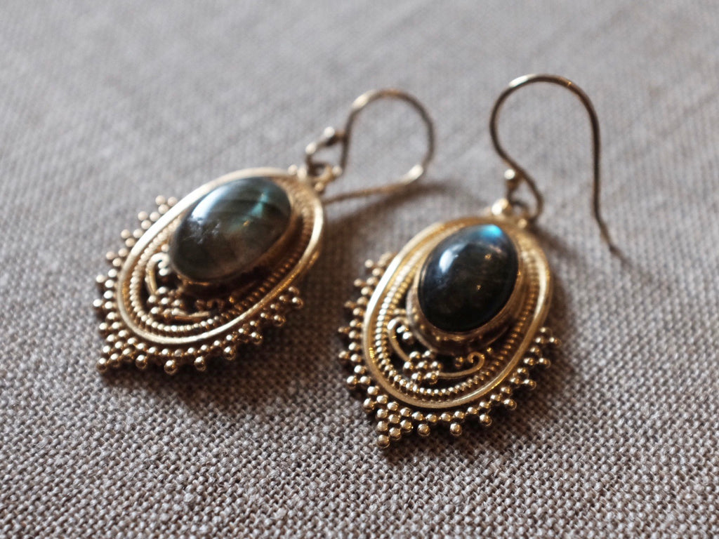 HC LABRADORITE earrings