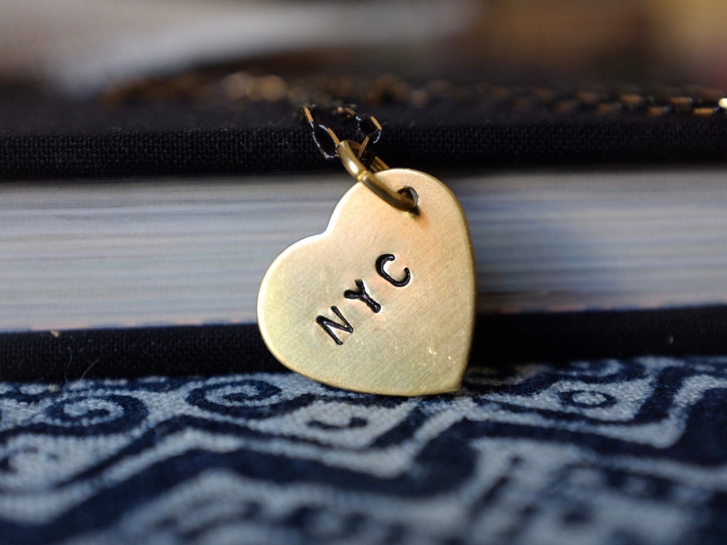 NYC HEART necklace