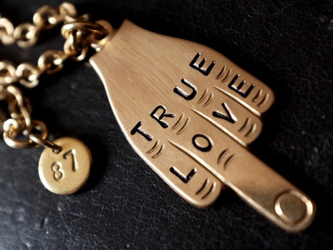 Middle Finger/ TRUE LOVE necklace