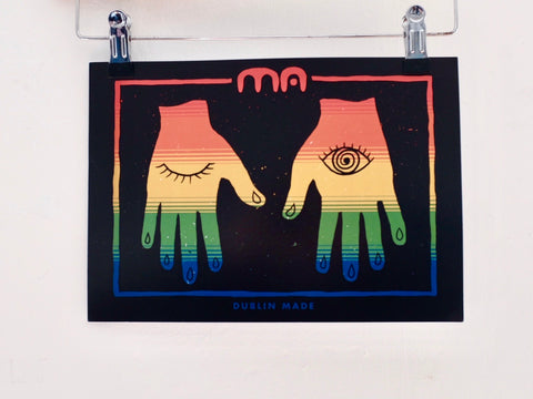 DUBLIN MADE hands print