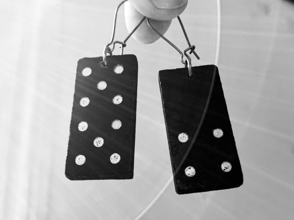 Recycled DOMINO earrings
