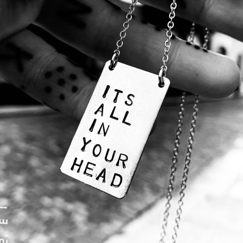 ALL IN YOUR HEAD 87' necklace