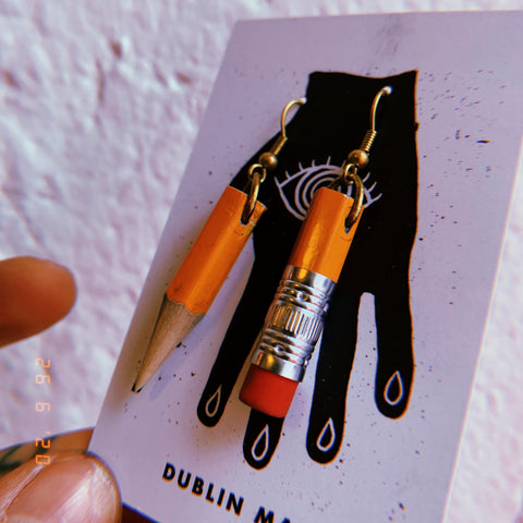 Recycled PENCIL earrings