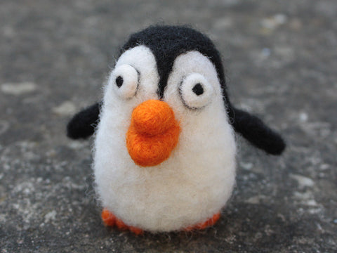 Needle felted fluffy Penguin