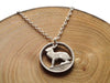 "Handcut coin necklace ""Irish Hare"""