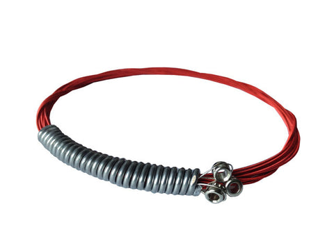 "Recycled guitar string bracelet ""Red"""