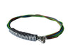"Recycled guitar string bracelet ""Multicolor II"""