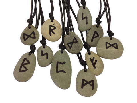 Handmade celtic rune stone amulet with meaning