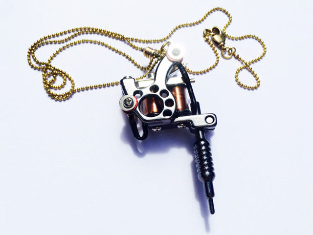 Tattoo machine necklace ink life tattoo love tattoo art magne tattoo machine necklace mozeypictures Gallery