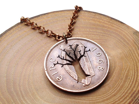 "Handcut coin ""Tree of life"" necklace"