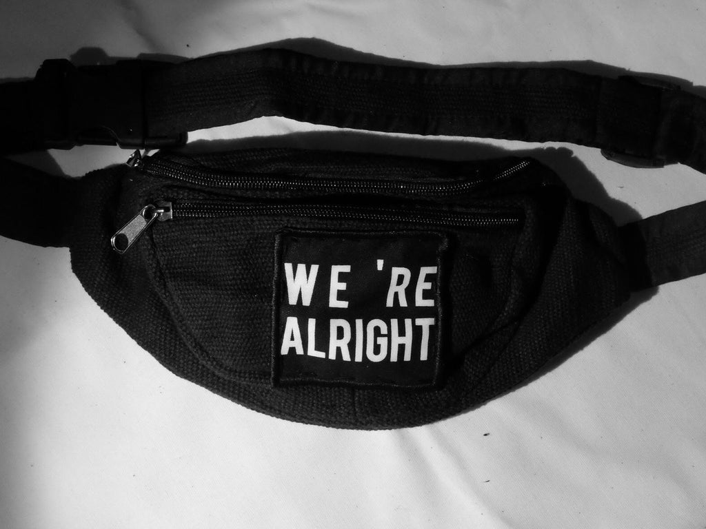 Punk bum bag 'WE ARE ALRIGHT'