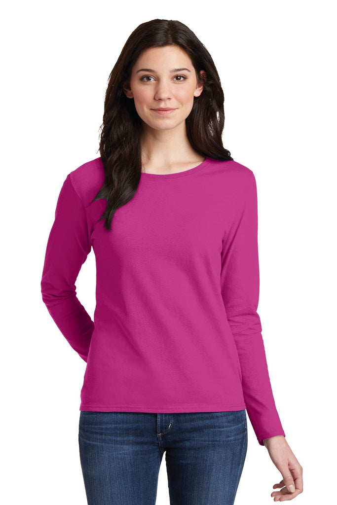 Gildan® Ladies Heavy Cotton™ 100% Cotton Long Sleeve T-Shirt. 5400L
