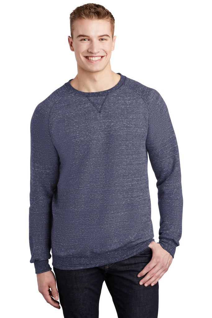 JERZEES ® Snow Heather French Terry Raglan Crew 91M